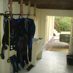Scuba diving facilities at the villa