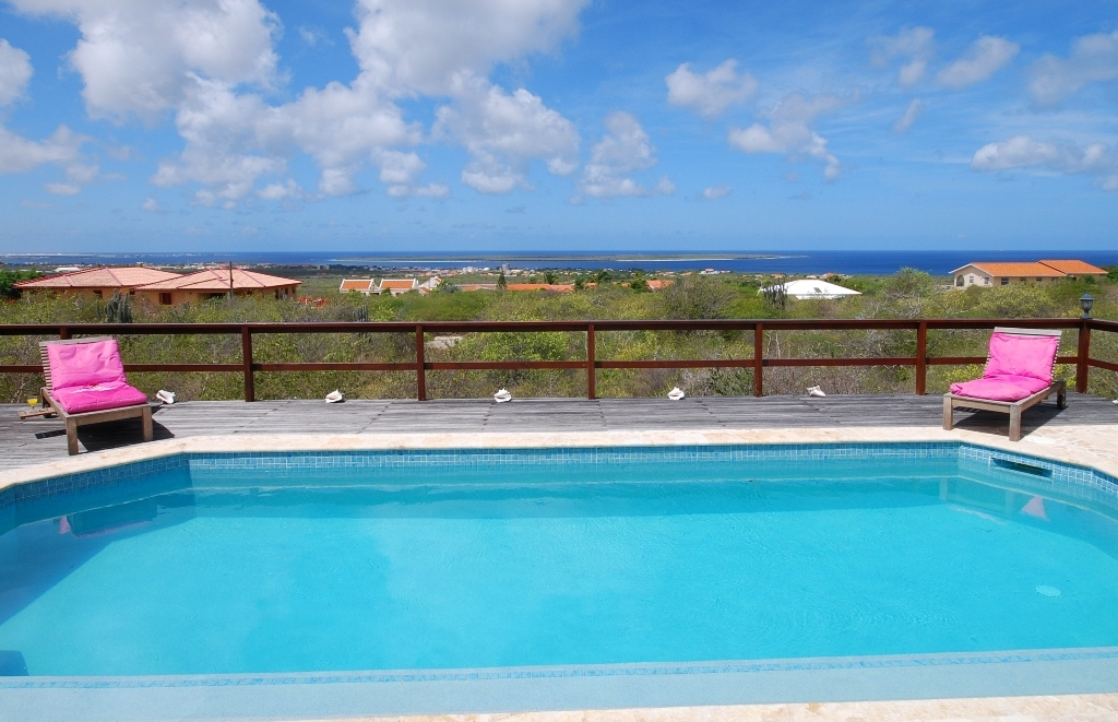 Views of the Caribbean Sea with Klein Bonaire and Kralendijk